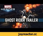 Marvel Heroes - Ghost Rider Trailer,Games,,Raised in a carnival by stunt men, Johnny Blaze was born to ride.  When his mentor revealed that he was dying of cancer, Blaze made a deal with the demon Mephisto to save the man's life.  Blaze's infernal contract bound his soul to the demon Zarathos and