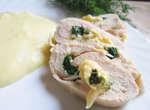 Куриный рулет с начинкой из шпината и сыра