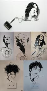 рисунки из кассетной пленки