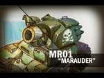 Marauder,People,,Процесс создания концепт-арта танка от поискового эскиза на бумаге до финальной картинки.
