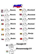 a M/Russia II fO<%/ vJ Russia q ^Russland (O / Russland O ^ Russie == (o&\/ Ryssland vJ El (V\ Rússia o Rusia II f£><VRuSÍa (\ /Rusland o SS <0 A/Rusland o CA /Rusija Rusko ggr¡ ,'0^\/Rusya SBfc / / Vena ja !?! Oroszország !??
