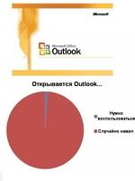 Microsoft Microsoft Office □ Outlook Открывается Outlook. Нужно воспользоваться I ! Случайно нажал