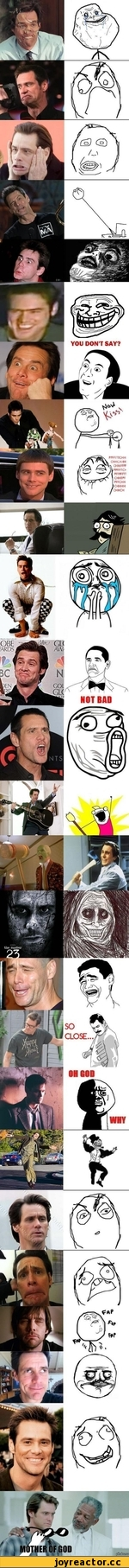 All the rage faces