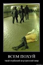ВСЕМ ПОХУЙ твой глубокий внутренний мир demotlvatlon.ru