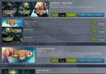 "BioShock Triple Pack ts Дата выпуска: 19 дек, 2013 Включенные товары (3): BioShock Infinite, BioShock® 2. BioShock""4 В корзину Открыть страницу в магазине BioShock Infinite if й ©STEAMPla- BioShock® 2 ir Дата выпуска BioShock 4 Дата вы г BioShock Infinite steam;>lay* Дата выпуска: 26 ма"