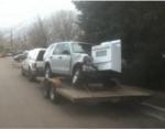 Машина врезалась в газовую плиту
