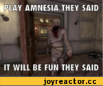 Play amnesia they said it will be fun they said