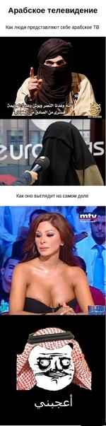 Арабское телевидение. Как люди представляют себе арабское ТВ. Как оно выглядит на самом деле.