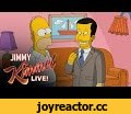 """Homer Simpson Gives Jimmy Kimmel a Tour of Springfield,Entertainment,jimmy,kimmel,live,late,night,talk,show,funny,comedic,comedy,clip,comedian,the,simpsons,600,episode,tour,homer,treehouse,of,horror,anniversary,springfield,cartoon,This coming Sunday night will mark the 600th episode of """"The Si"""