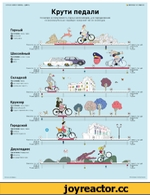 ЖУРНАЛ ИНФОГРАФИКА > ЦИФРЫ *■ INFOGRAPHICSMAG.RU Крути педали Несмотря на популярность горных велосипедов, для передвижения по асфальту больше подойдет городской тип велосипедов. Шоссейный Назначение: иоссе. город фскорость фцена Стоимость, тыс. руб. Асфальт _ф_ Комфорт _о_ Ровная дорога
