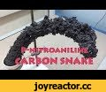 p-nitroaliline superfast decomposition (big carbon snake),Entertainment,carbon snake,p-nitroaniline,fast reaction,p-nitroaniline decomposition,p-nitroaniline with sulfuric acid,amazing chemical reaction,carbon snake chemistry,carbon snake xl,carbon snake explanation,The decomposition products of
