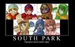 Как бы выглядели персонажи из саут парка в аниме SOUTH Thank god it wasr PARK i't made in Japan.