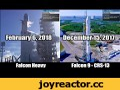 Полное сравнение запусков Falcon Heavy и Falcon 9 (запуск и посадка),Autos & Vehicles,SpaceX,Falcon Heavy,Falcon 9,Landing,Сравнение,Запуск,Ракета,Запуск Falcon Heavy - 6 февраля 2018 года. Запуск Falcon 9 (CRS-13) - 12 декабря 2017 года. #SpaceX #FalconHeavy #Falcon9 #Rocket #Landing Использована