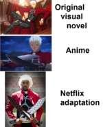 Original visual novel Anime Netflix adaptation