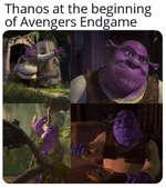 Thanos at the beginning of Avengers Endgame