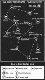 Sub-Sector 199/64/GS/NE - 'Cyclops Cluster' /TT\DenerairCCX-104j^U^ 0D.:, CCX-104 . / &  Misere s s Mezoa .j. / L y ^.j(a y I mV '* Numijor /' Rebo # /' (Blackstone IV) Thanet I GS/PC02 Slade* Lithore Numitor /' Rebo /* (Blackstone IV)  Halemnet Platea v / \ ' / . I / é N