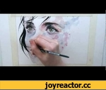 speed painting - just one in a thousand,Film,agnes-cecile,silvia,pelissero,watercolor,speed,painting,face,drawing,paint,1000Drawings,Amsterdam,Watercolor Painting,kashiwa,daisuke,april.#7,I made this painting for the 1000Drawings project, it's a one night exhibition for charity in Amsterdam, on May