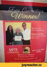 """Yf> S? C)JJùrme/J Wi Finer of a Free Cremation Roanne Seeley won the Drawing at our Open House COMPLETE Down east Direc f Cremation, LLC downeastdirectcrematioro • """"inpmiy itun provide* a ffiinluMe"""