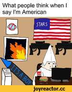 What people think when I say I'm American