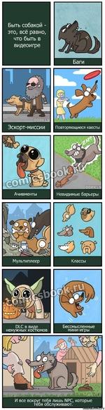 Быть собакой -это, всё равно, что быть в видеоигре Баги 01_С в виде ненужных костюмов