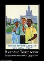 """В стране Толерастия Блядство называется """"дружбой"""" demotivators.ru"""