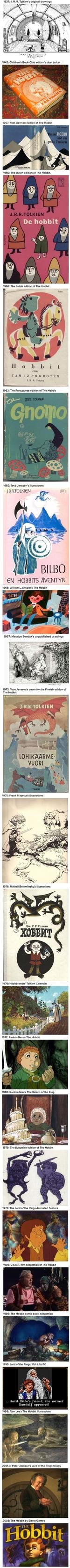 De hobbit Until В 1937: J. R. R. Tolkien's original drawings Ег»Л,of 1942: Children's Book Club edition's dust jacket 1957: First German edition of The Hobbit PAULUS VERLAG 1960: The Dutch edition of The Hobbit J.R.R.TOLKIE 1960: The Polish edition of The Hobbit CZYLI J. R. R. Tolkien