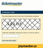 ticketmaster Verification Code Tbn Hep helps prevent unfar use of automated programs Enter me venfeabon code as ( a shown t the box above I I c+n'i ttt wto?