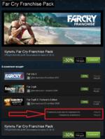 Купить Far Cry Franchise Pack ПРЕДЛОЖЕНИЕ ДНЯ! Заканчивается через 07:38:12 В комплект входят -30% 799 руб. в К0РЗИНУ ßJRCKY Раг Сгу 3 | ffg Дата выпуска 29 ноября 2012 -25% 599 руб. Far Cry® ^ата выпуска 1 апРеля 2008 -75% 49 руб. тЯГ FMRCRY2 Far СгУ® 2; Fortune's Edition roJtTVMt Н)П