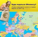 Россия Казахстан Ирландия Ш°/о,...... Португалия ¡46,5% Испания 45% J Куда податься Обеликсу? Ставки подоходного налога в странах Европы на 2011 год поданным ria.ru