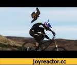 Gee Atherton gets hunted by a Peregrine Falcon,Sports,,Watch the Birdcam: http://youtu.be/jTJYc8O1ocM Watch Behind the Scenes: http://youtu.be/dGcGGkqKJkU Downhill mountain bike legend, Gee Atherton, is hunted by the fastest bird in the world, a peregrine falcon. Set in the epic landscape of Antur