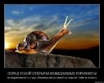 ПЕРЕД ТОБОЙ ОТКРЫТЫ НЕВИДАННЫЕ ГОРИЗОНТЫ но медлительность и груз обязанностей за спиной не позволят тебе их познать demotlvatlon.ru