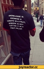 / / £ knowledge is KNOWING a TOMATO IS A FRUIT-WISDOM is NOT ' ?UTT NQ If |N ^ VHUH w 7 1 I