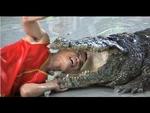 Pattaya Thailand Crocodile Farm 2011 .This man sticks his arm in a Crocodile stomach,Animals,,The Million Years Stone Park & Pattaya Crocodile Farm  Original Video http://www.youtube.com/watch?v=dnyLOH_40Rw  Afghanistan -- Akrotiri and Dhekelia -- Åland -- Åland Islands Albania - Algeria -- Am